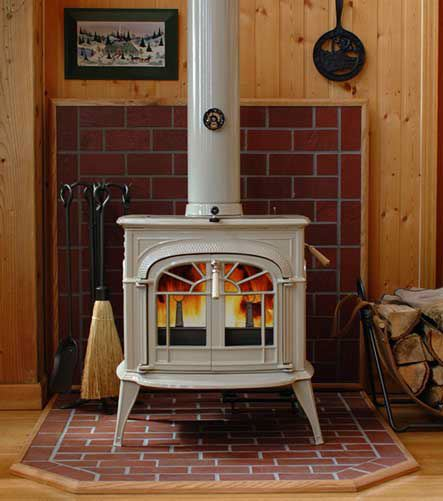 Wood Stove Part 3 Brick Surround
