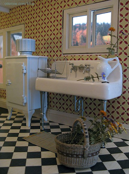 1920s Kitchen Sink And A Beautiful Basket